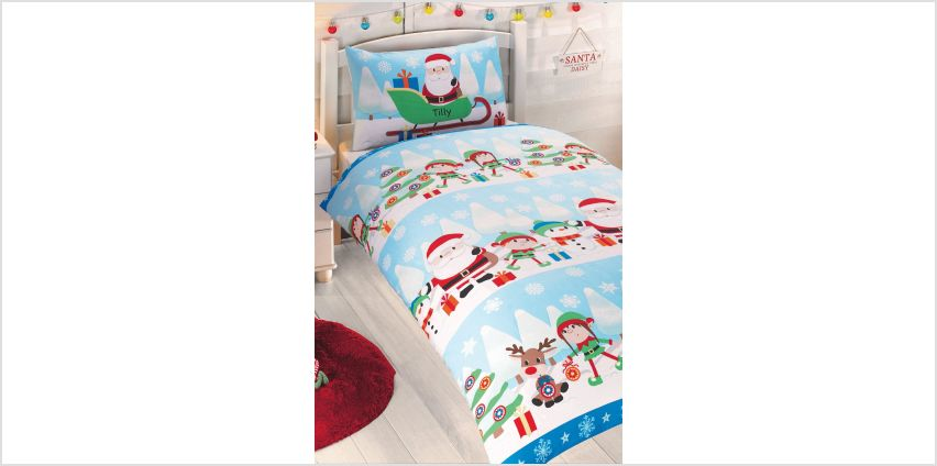 Personalised Fun in the Snow Single Duvet Set from Studio