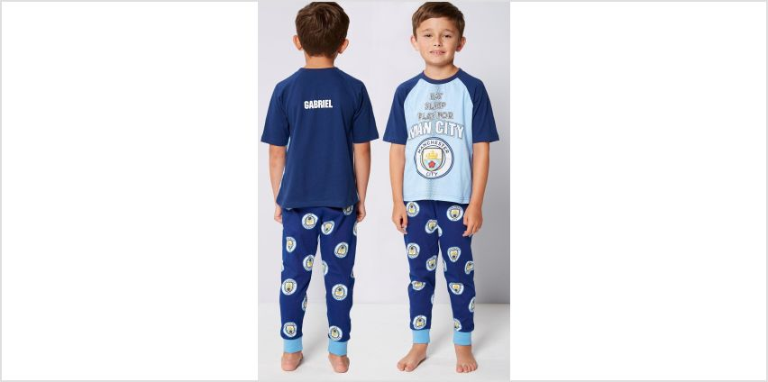 Boys Personalised Manchester City FC Pyjamas from Studio