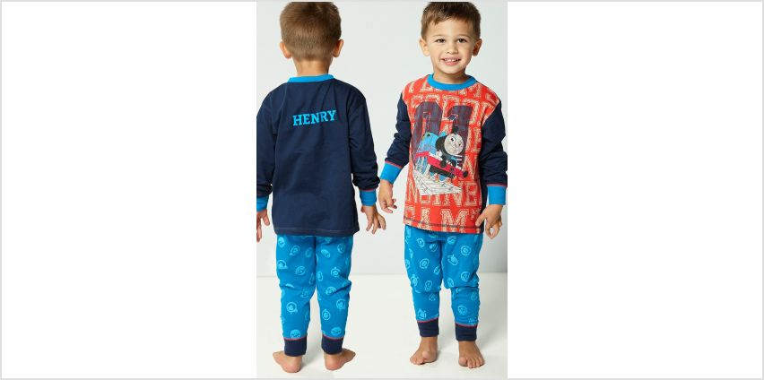 Young Boys Personalised Thomas and Friends Long Pyjamas from Studio