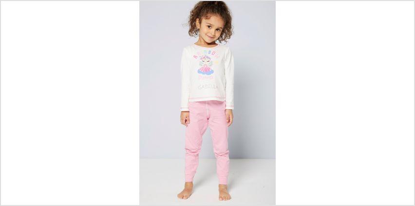Girls Personalised Long Sleeve Rainbow Dreams Fairy Pyjamas from Studio
