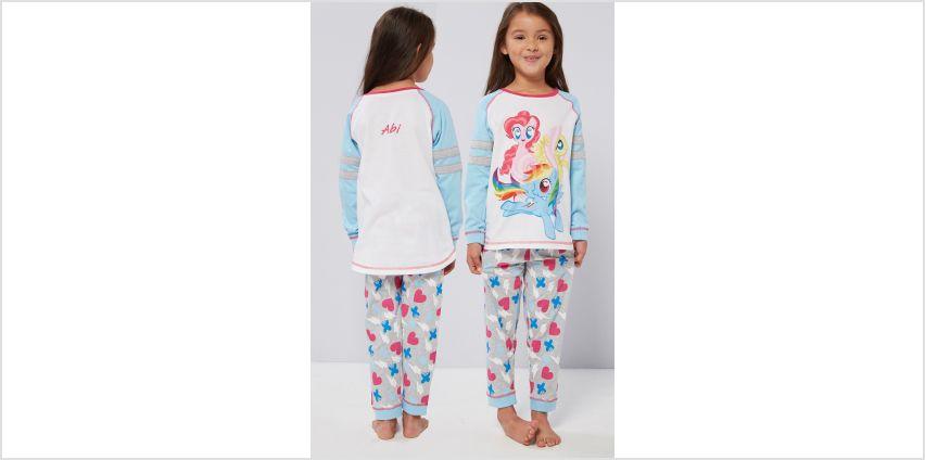 Girls Personalised My Little Pony Varsity Style Pyjamas from Studio