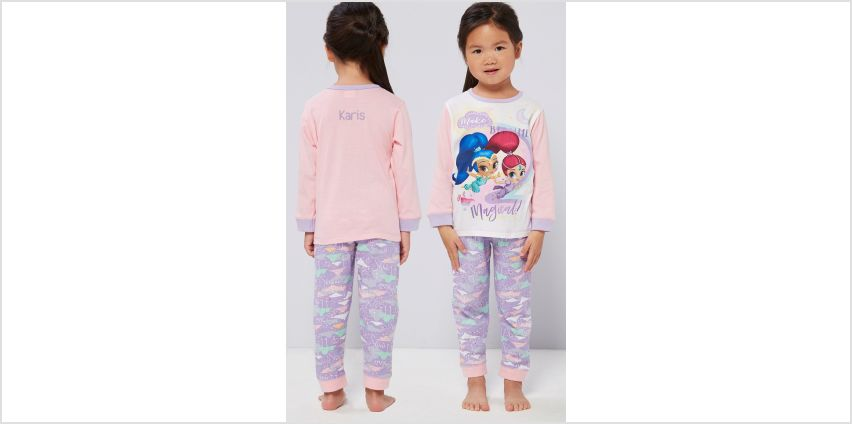 Girls Personalised Shimmer and Shine Pyjamas from Studio
