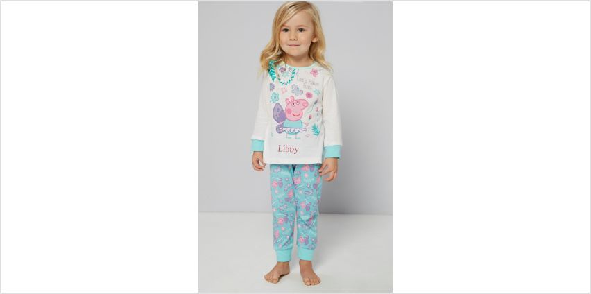 Personalised Younger Girls Peppa Pig Butterfly Pyjamas from Studio