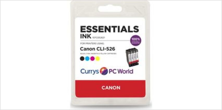 C526 Cyan, Magenta, Yellow & Black Canon Ink Cartridges - Multipack from Currys