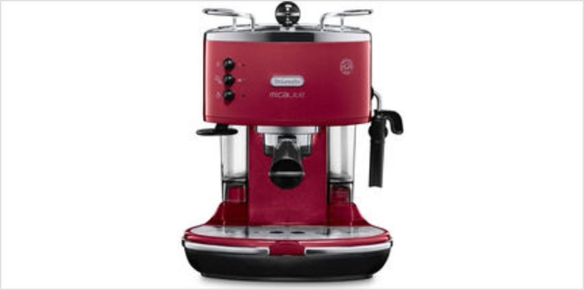 Icona Micalite ECOM 311.R Coffee Machine - Red from Currys