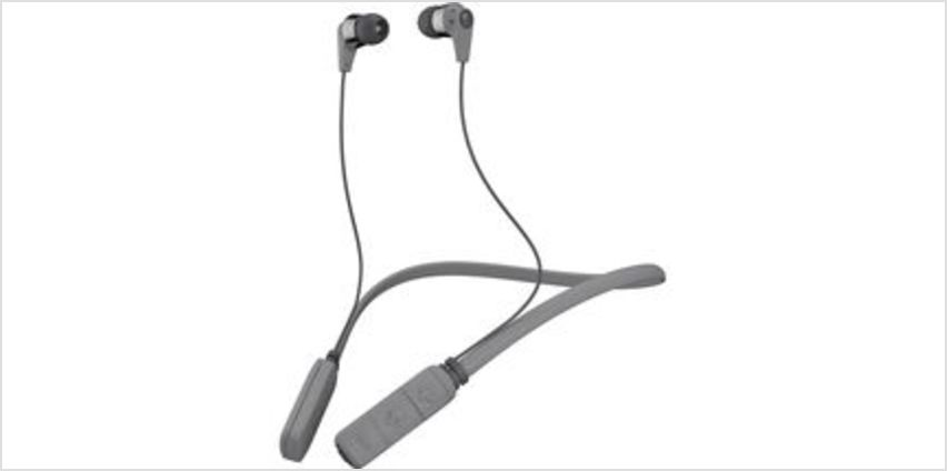 Ink'd Wireless Bluetooth Headphones - Grey & Chrome from Currys