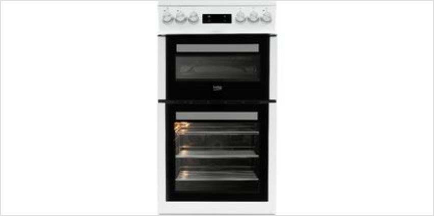 Pro XDVC5XNTW 50 cm Electric Cooker - White from Currys
