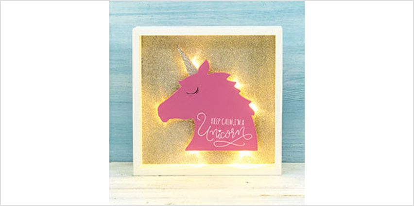 Wooden Unicorn Frame with LED Light from The Book People