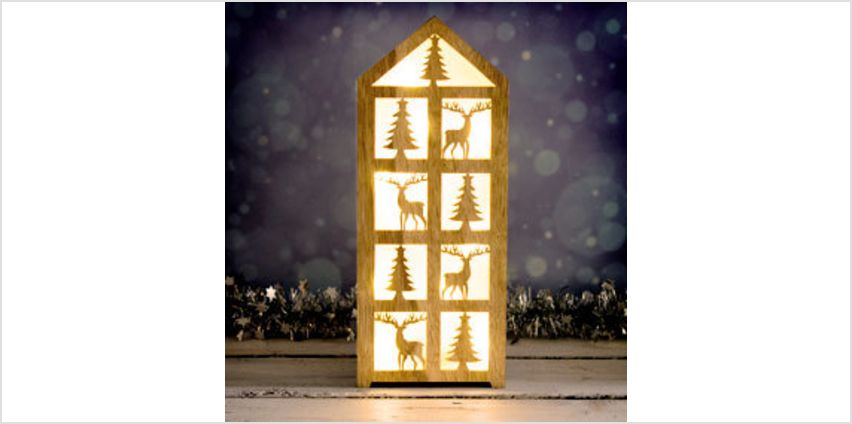 Wooden Decorative House with 10 LED Lights from The Book People