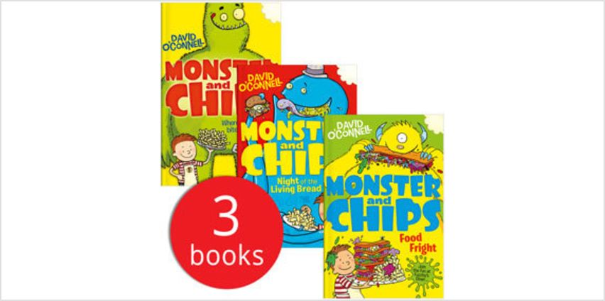 Monster & Chips Collection - 3 Books from The Book People