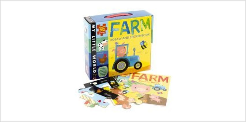 Farm Jigsaw and Sticker Book from The Book People