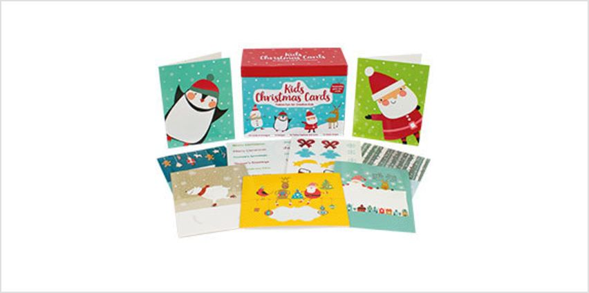 Kids Christmas Box of 20 Cards to Personalise from The Book People