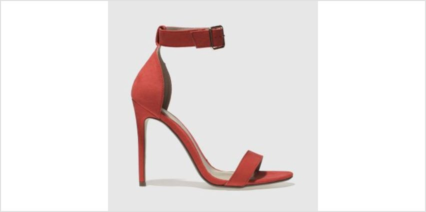 Missguided Red Flat Strap Barely There Womens High Heels from Schuh