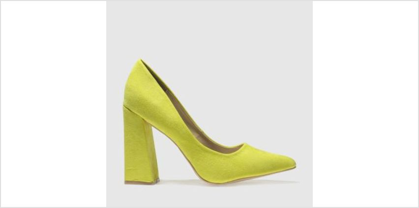 Missguided Yellow Flared Point Heel Womens High Heels from Schuh