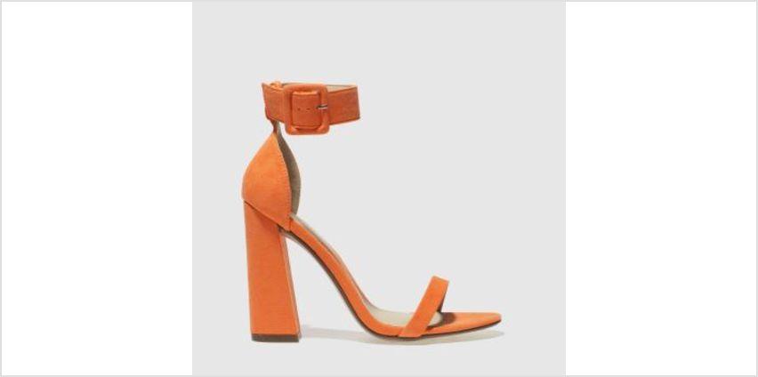 Missguided Orange 2 Strap Block Heel Womens High Heels from Schuh