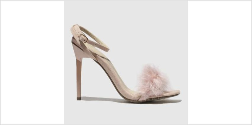 Missguided Pale Pink Shiny Barely There Feather Womens High Heels from Schuh