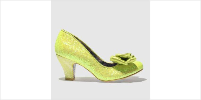 Irregular Choice Yellow Banjoe Glitter Womens Low Heels from Schuh