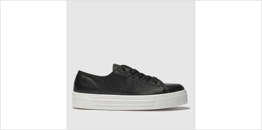 Schuh Black & White Sneaky Womens Trainers from Schuh
