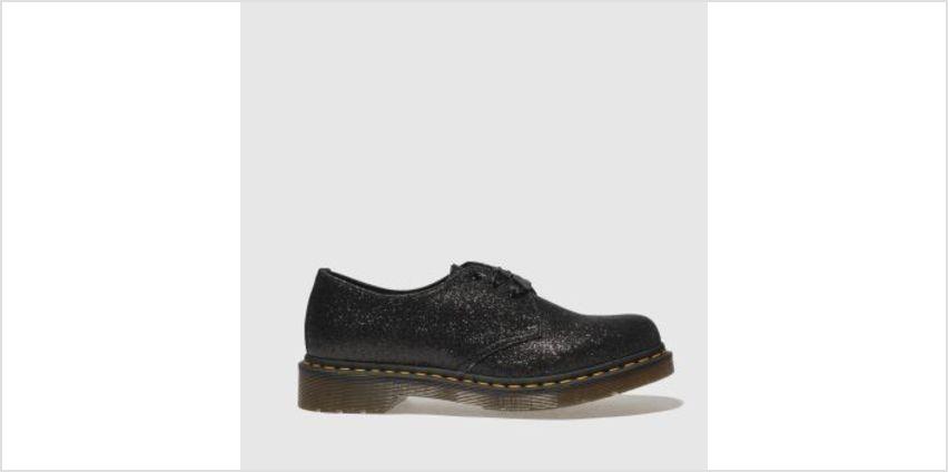 Dr Martens Black & Silver 1461 3 Eye Shoe Glitter Womens Flats from Schuh