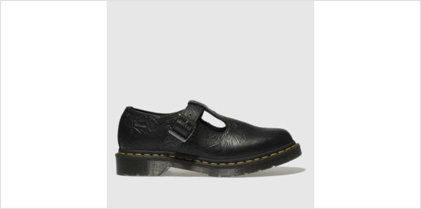 Dr Martens Black Polley Floral Emboss Womens Flats from Schuh