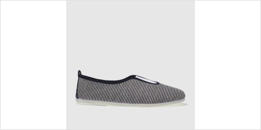 Flossy Navy & White Califa Womens Flats from Schuh
