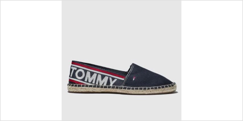 Tommy Hilfiger Navy Tj Pop Webbing Espadrille Womens Flats from Schuh