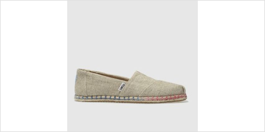 Toms Natural Classic Slip Rope Sole Womens Flats from Schuh