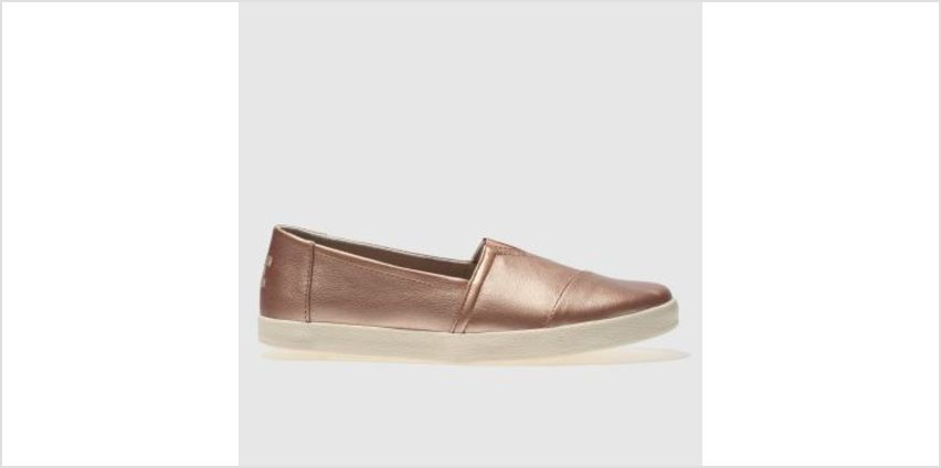Toms Rose Gold Avalon Womens Flats from Schuh