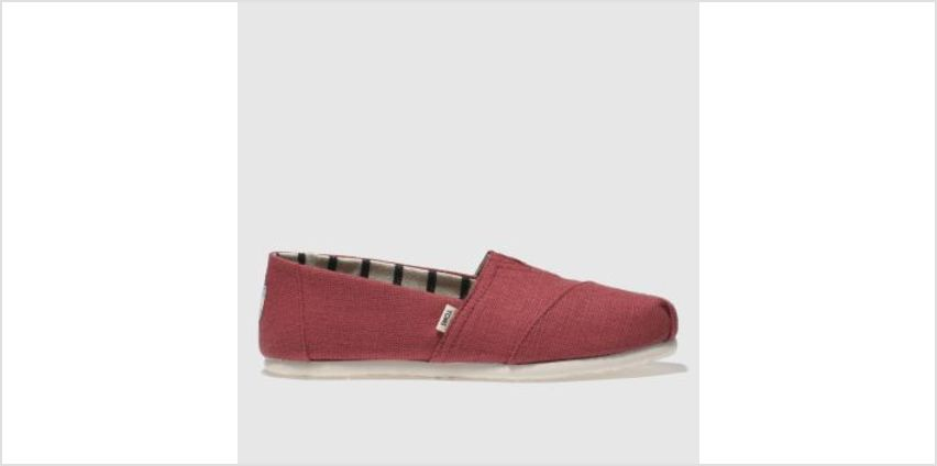 Toms Red Alpargata Venice Womens Flats from Schuh