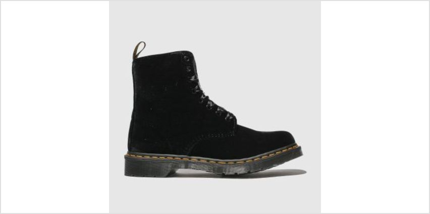 Dr Martens Black 1460 Pascal Velvet Womens Boots from Schuh