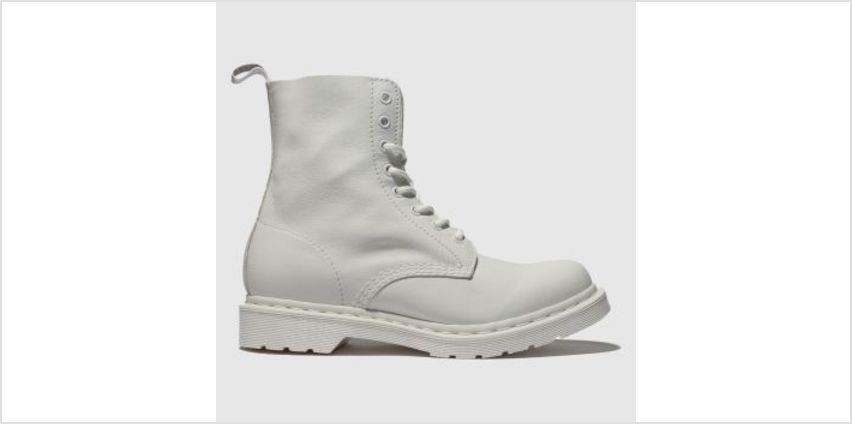 Dr Martens White 1460 Pascal Mono Womens Boots from Schuh