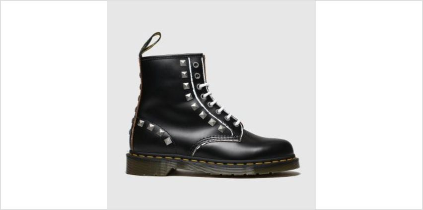Dr Martens Black & White 1460 Stud Womens Boots from Schuh