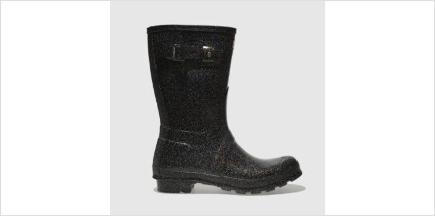 Hunter Black Original Starcloud Short Womens Boots from Schuh