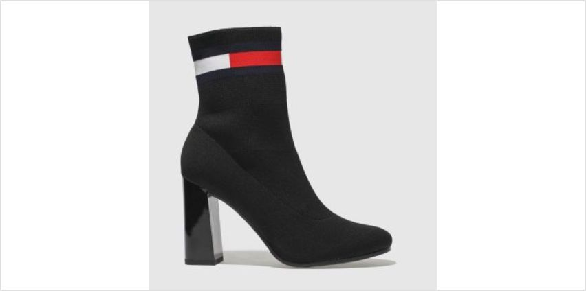 Tommy Hilfiger Black Tj Sock Heeled Boot Womens Boots from Schuh