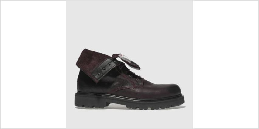 Tommy Hilfiger Burgundy Tj Big Flag Lace Up Womens Boots from Schuh