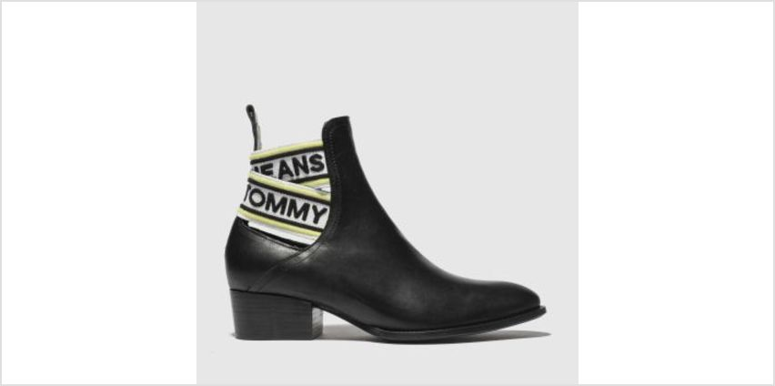Tommy Hilfiger Black & White Tj Pop Webbing Chelsea Womens Boots from Schuh