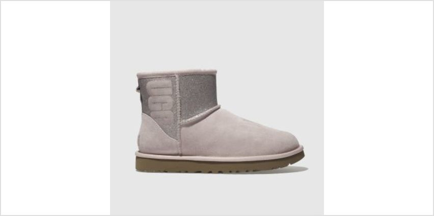 Ugg Pale Pink Classic Mini Sparkle Womens Boots from Schuh