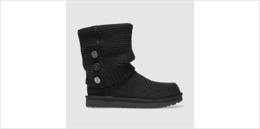 Ugg Black Purl Cardy Knit Womens Boots from Schuh