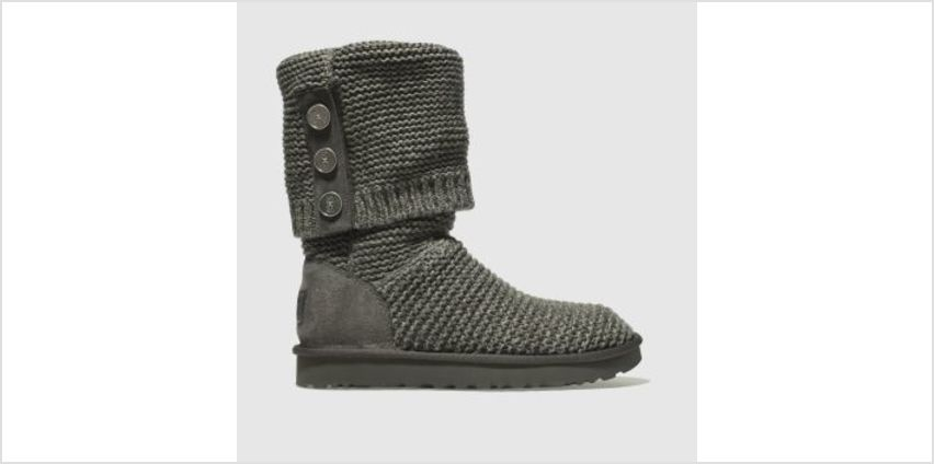 Ugg Grey Purl Cardy Knit Womens Boots from Schuh