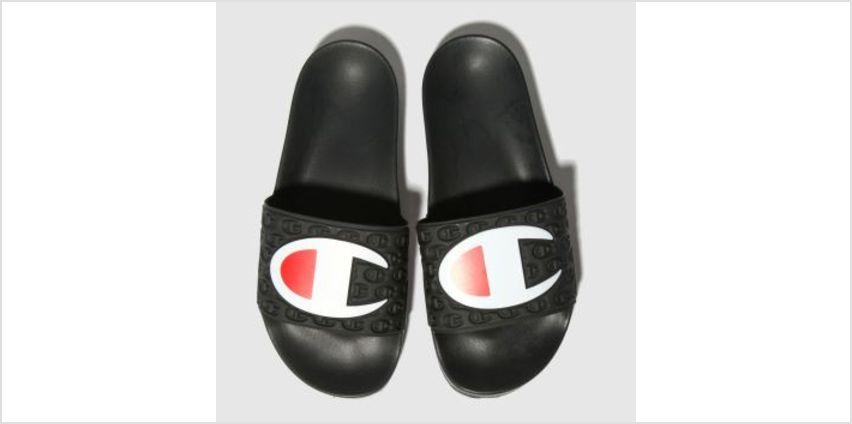 Champion Black Multi Lido Slide Womens Sandals from Schuh