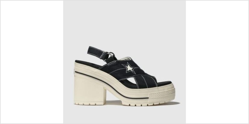 Converse Black & White One Star Heel Womens Sandals from Schuh