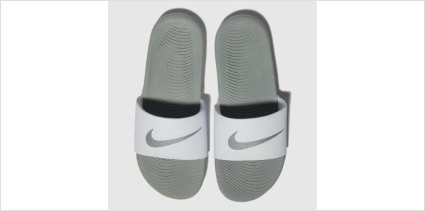 Nike White & Silver Kawa Slide Womens Sandals from Schuh