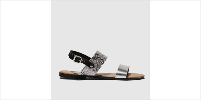 Schuh Black & Silver Kerala Womens Sandals from Schuh