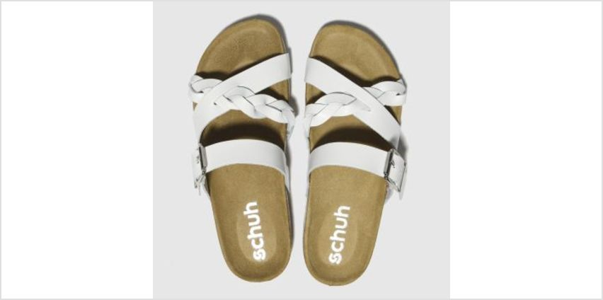 Schuh White Astrology Womens Sandals from Schuh