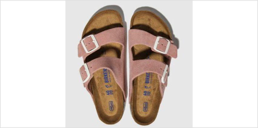 Birkenstock Pink Arizona Sfb Suede Womens Sandals from Schuh