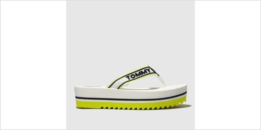 Tommy Hilfiger White Tj Pop Webbing Mid Beach Womens Sandals from Schuh