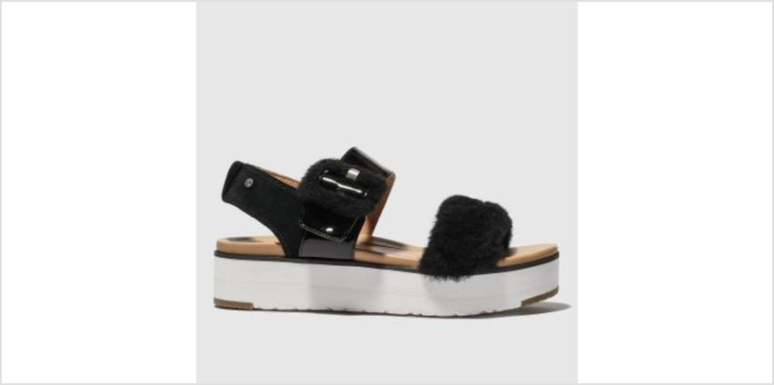 Ugg Black Le Fluff Womens Sandals from Schuh