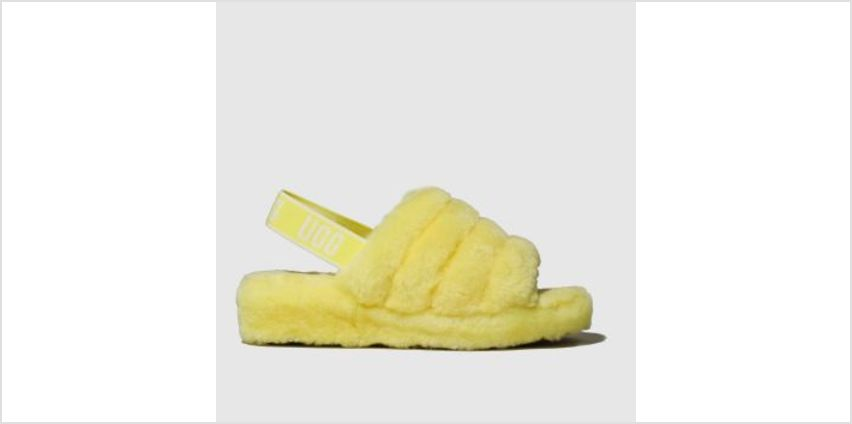 Ugg Yellow Fluff Yeah Slide Womens Slippers from Schuh