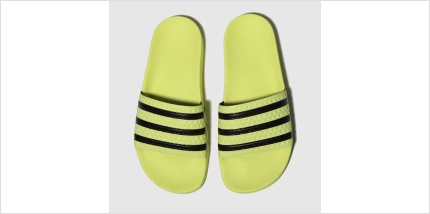 Adidas Yellow Adilette Slide Womens Sandals from Schuh