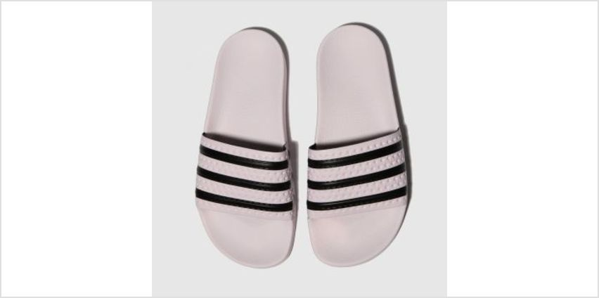 Adidas Pink & Black Adilette Slide Womens Sandals from Schuh
